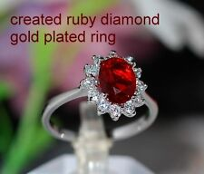 Cluster Ruby Oval Costume Rings