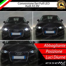 KIT FULL H15 LED AUDI A3 8V  CANBUS NO AVARIA LUCI 6000K BIANCO + POSIZIONE LED