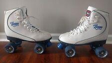 Tacoma Speedway Roller Derby Skates White Blue  Size 10