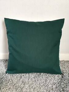 """NEW 22"""" PLAIN BOTTLE GREEN CUSHION COVER PILLOW BED SOFA MORE COLOURS SIZES"""
