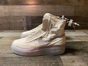 Nike AF1 Shell Cream Sail Desert Sand Grey Air Force 1 BQ6096-002 Womens Sz 9