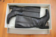 Milana black calf womens leather boots size 37.5