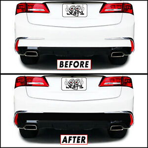 Blackout Overlay for 2018-20 Acura TLX Rear Bumper Diffuser Accent