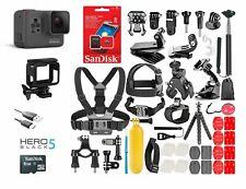 GoPro HERO5 Black Edition TouchScreen + 40 Pcs Sports Accessories Kit Bundle!
