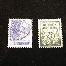 Indonesia Postage Stamps, Modern, Used, 2 Pieces
