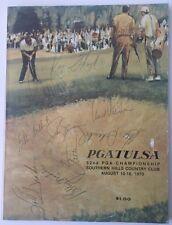 1970 PGA Championship Golf Program 10 Signatures  On Cover JSA Certified