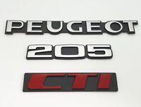 ⭐🇫🇷 NEUF KIT 3 MONOGRAMMES PEUGEOT 205 CTI VERSION ROUGE CABRIOLET LOGO BADGE