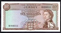 Jersey: The States Of Jersey, 10 shillings, (1963), B899010, (Banknote Year B...