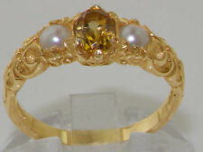 Citrine Yellow Gold Oval Fine Gemstone Rings