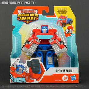 Rescan OPTIMUS PRIME Transformers Rescue Bots Academy Playskool Racing Truck New