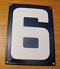 ORIGINAL PORCELAIN HOME STREET ADDRESS / GAS STATION NUMBER 6 or 9 SIGN ~  LOT G