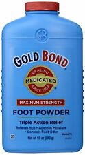 3 Pack - Gold Bond Foot Powder Medicated Maximum Strength 10 oz Each