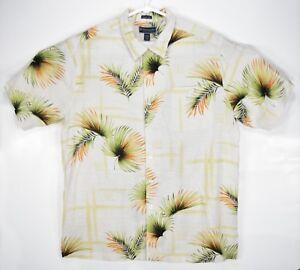 Weekender Men's Size XL Floral Hawaiian Button Up SILK Blend Shirt
