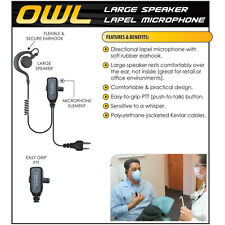 Tactical Ear Gadgets OWL Quick Release Earpiece for ICOM COBRA RITRON (See List)