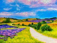 ORIGINAL Landscape Countryside Hills Painting - British Art Original Presale