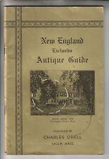 VINTAGE BOOKLET - NEW ENGLAND EXCLUSIVE ANTIQUE GUIDE - CHARLES ODELL SALEM MA