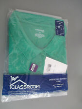 Juniors Girls 3X-Large Short Cap Sleeve Fitted ClassRoom Polo, Kelly Green