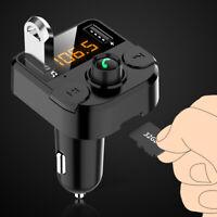 Transmetteur FM Bluetooth Lecteur MP3 Adaptateur sans Fil Voiture 2 USB Chargeur