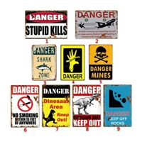 Danger Tin Sign Metal Paintings Fancy Gift Idea Design Coffee Pub Club Wall Art