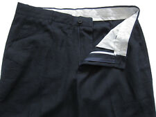 New Mens Marks & Spencer Blue Linen Trousers Waist 38 Leg 30 LABEL FAULT