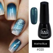 MAX 7ml Nail Art Color UV LED Soak Off Gel Polish #020-Marine Blue