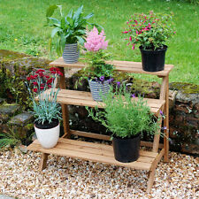 Outdoor 3-Tier Etagere Plant Stand Pot Garden Display Straight Or Corner