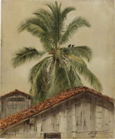 Winslow Homer Frederic Edwin Church Palm Trees and Housetops Canvas Print