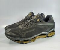 Mizuno Lamborghini Wave Tenjin Running Training Shoes Black Gold Mens Size 10.5