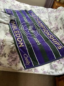 2020 WIMBLEDON TENNIS TOWEL WITH CARRY BAG- New Never Used