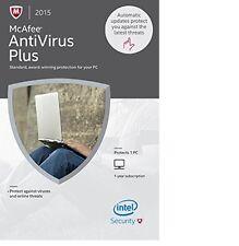 McAfee 2015 AntiVirus Plus 1 PC 1-YR Subscription - NEW - FREE SHIPPING™