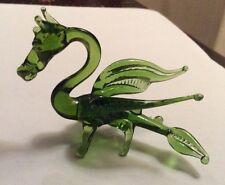 NEW GLASS LAMPWORK GREEN DRAGON MURANO STYLE GLASS ANIMAL ORNAMENT LAMP WORK