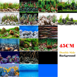 "Aquarium Fish Tank Background Double Side Poster 18""(45cm)*3ft/4ft/5ft/6ft"