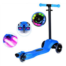 Pro Flashing Led Light Up Kids Scooter Child Kick 3 Wheel Push Adjustable Fold