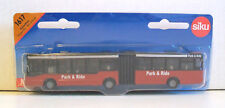 SIKU 1617 Miniature RED HINGED PARK & RIDE BUS 16cm Long - Diecast & Plastic