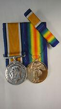 Set of 2 World War 1 WWI Medals British War Medal Victory Medal
