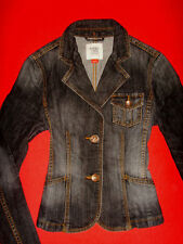 ESPRIT JEANS JACKE STRETCH BLACK DENIM S 34 36 NEU !!! TOP !!!