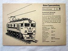DDR Kleine Typensammlung Schienenfahrzeuge - Sowjetische Reisezuglokomotive
