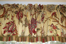Richloom Darjeeling Cardinal Red Gold Toile Valance 17x 56 Medium Wt Curtain