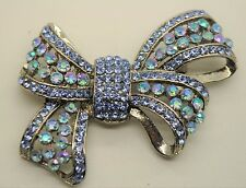 Vintage Ribbon Style Fashion Brooches Dk/ab/Lt Blue high-quality Bouquet