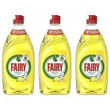 3 x Fairy Original Lemon Washing Up Dishwashing Liquid 500ml - Long Lasting Suds