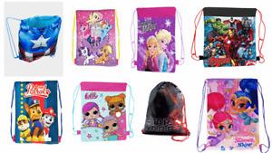 Childrens Kids Boys Girls Character Swim Sports Bag PE School sports bags