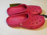 Crocs Womens Freesail Candy Pink Clog Mule 200861-6X0 W 7 W7 shoes croslite