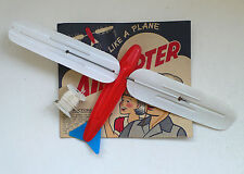 Vintage AIRCOPTER Plane Beach Wind Toy Turboplan Windspiel Card 1 1960's