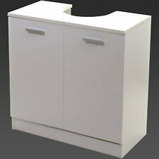 Under Sink Cabinet Basin Unit White Wooden Storage Cupboard Bathroom Furniture