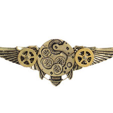 Antique Bronze Steampunk Angle Wings Gears Pendant Sweater Chain Necklace Co