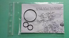 Riemen-Set für Umlenkhebel AKAI GX-747 dbx Tape Recorder Tension Arms Belt-Kit