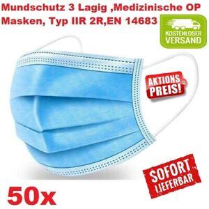 Medizinische OP Masken, Mundschutz, Typ IIR, / 2R, EN 14683