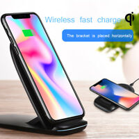 Wireless Qi Fast Charger Charging Stand Dock Pad For Samsung Galaxy S8 / S9 Plus