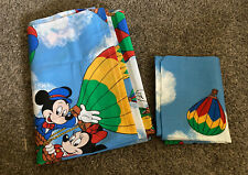 ~Vintage Sears Disney Mickey Mouse Twin flat sheet + pillowcase Bedding New