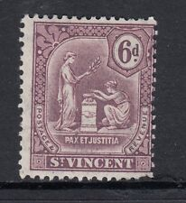 1909 King Edward VII SG107 6d. Dull Purple - ST VINCENT-Lightly mounted mint